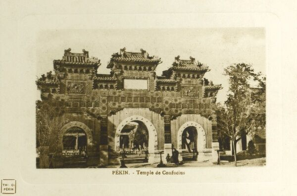 Temple of Confucius, Beijing, People's Republic of China Date: circa 1910