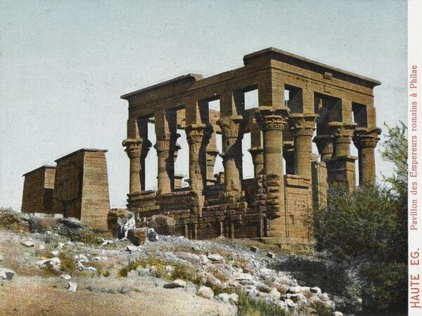 The Pharoahs' Pavilion at the Temple of Philae, Egypt