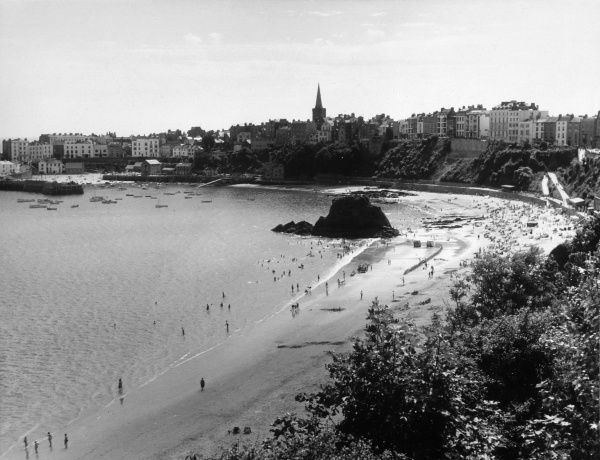 Tenby: view of the beach Date: 1960