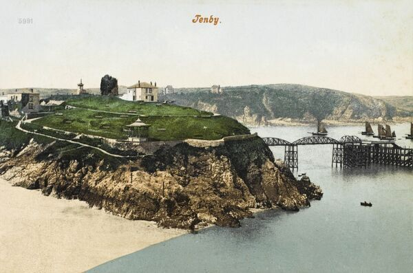 Tenby is a walled seaside town in Pembrokeshire, south-west Wales, lying on Carmarthen Bay