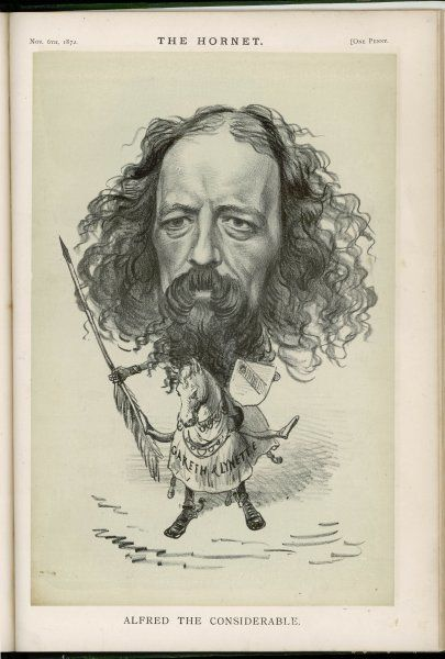 ALFRED, LORD TENNYSON English poet A caricature