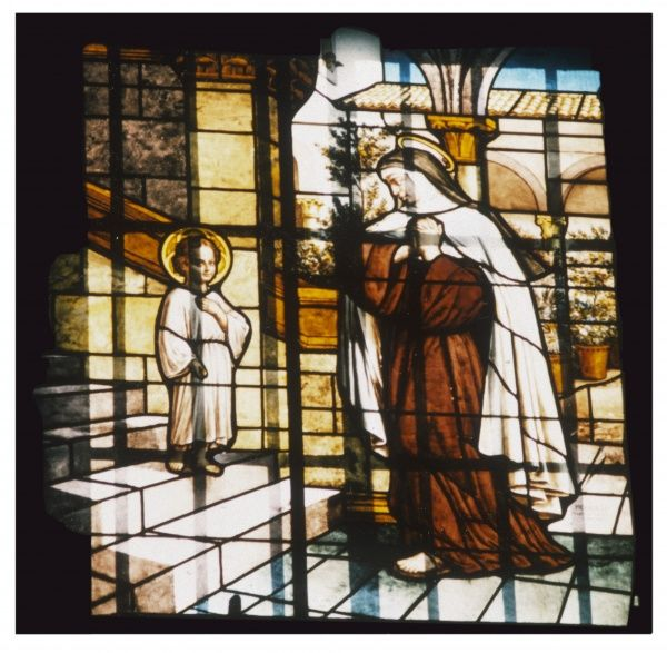 Though mostly Teresa met Jesus as an adult, on one occasion she was privileged to meet him as a child - the scene depicted in this window
