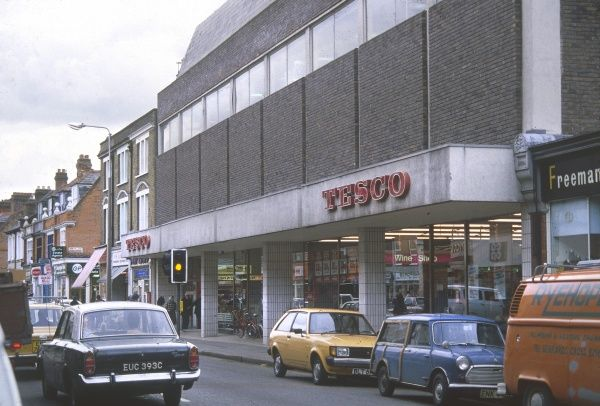 An early branch of Tesco's supermarket, London. Date: 1979
