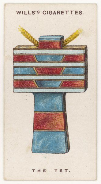 TET (or TAT) AMULET An ancient Egyptian protection against misfortune