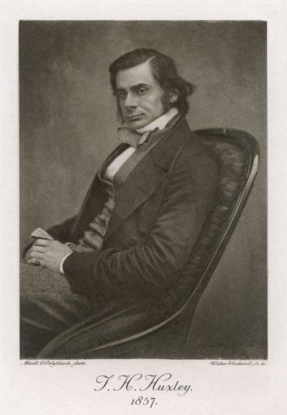 THOMAS HENRY HUXLEY English scientist and champion of Darwin's Theory of Evolution, in 1857