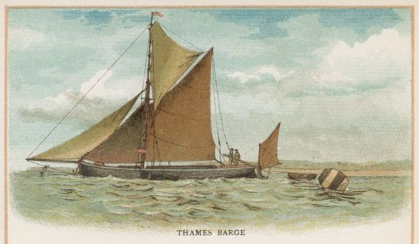 Thames barge, used for carrying hay and other commodities