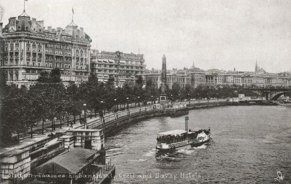 Thames Embankment - Cecil and Savoy Hotels