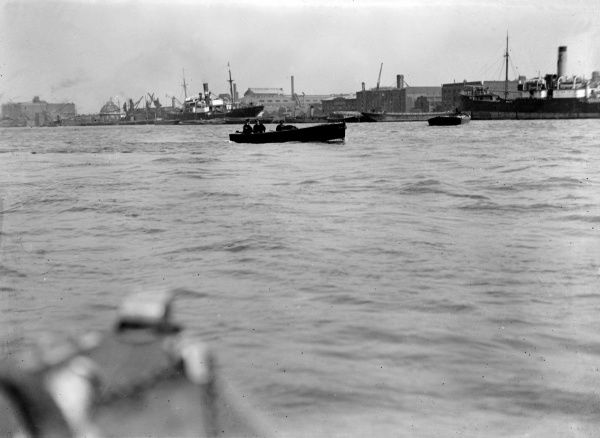 A Thames River Police Patrol boat. Date: early 1930s