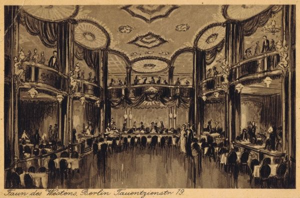 A sketch of the interior of Theatre des Westens, Berlin Date: 1920s