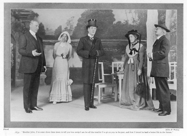 'THE IMPORTANCE OF BEING EARNEST' Algy, Cecily, John Worthing, Lady Bracknell and Canon Chasuble ; at the St James Theatre