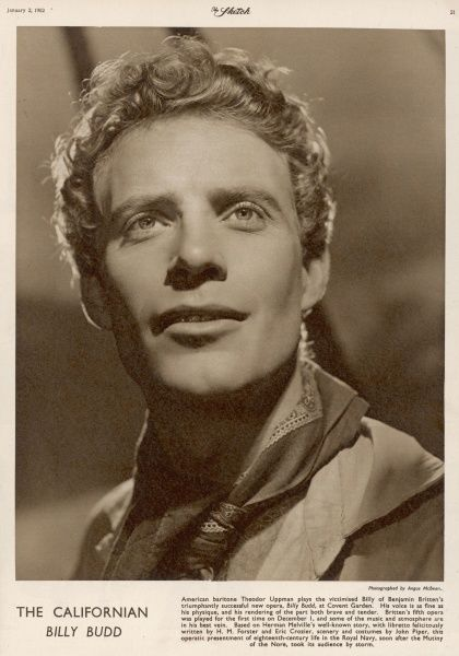 THEODOR UPPMAN dressed in character as Billy Budd from Benjamin Britten's opera of the same name. Angus McBean (1904-1990), began his career in the theatre making masks and designing sets. He took an interest in photography from an early age