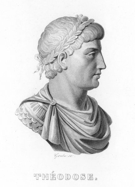 EMPEROR THEODOSIUS I at first Emperor in the East, later in the West also : the last to rule the entire Roman Empire