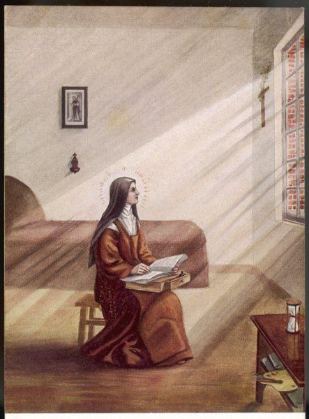 THERESE MARTIN As a Carmelite nun, she writes 'L'Histoire de son Ame' (the history of her soul) in her convent cell ; it is published after her death, in 1898