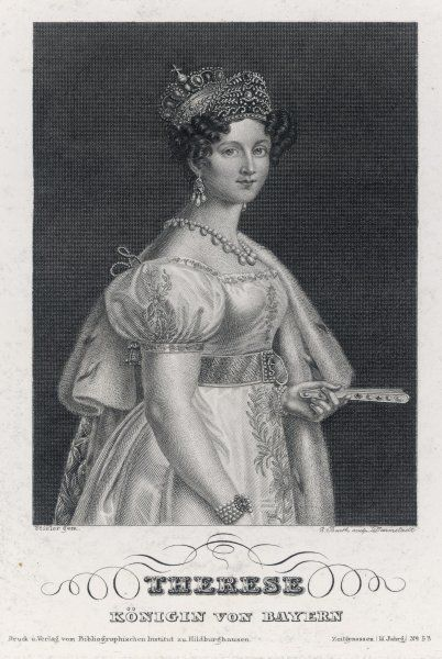 THERESE SAXE-HILDBURGHAUSEN Wife of Ludwig I, King of Bavaria