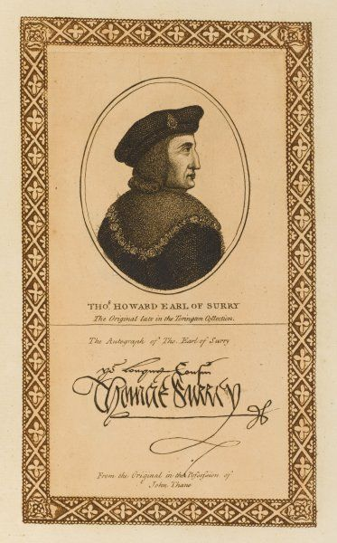 THOMAS HOWARD, earl of SURREY statesman with his autograph