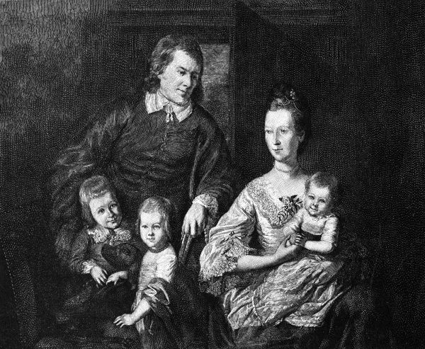 THOMAS JOHNSON American statesman, with his family Date: 1732 - 1819