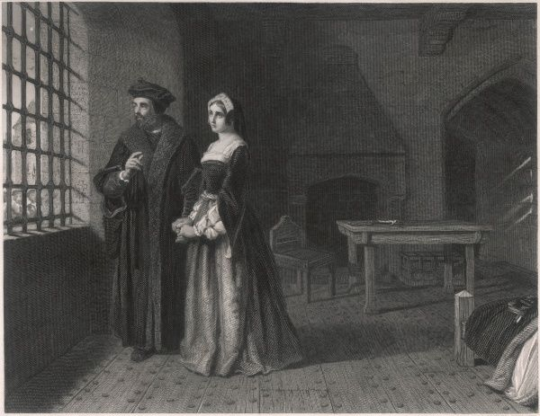 SIR THOMAS MORE English statesman and author in prison, visited by his daughter Margaret
