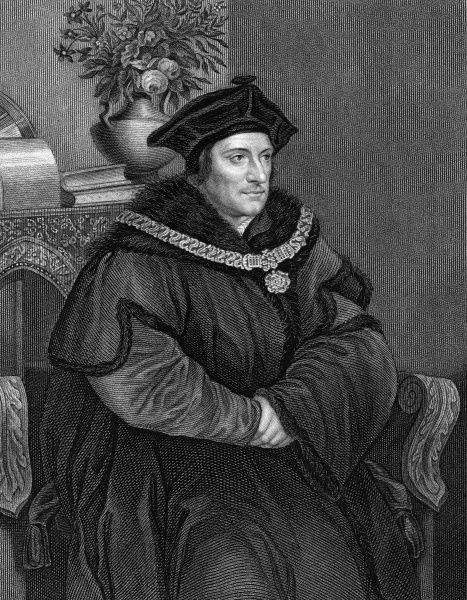 SIR THOMAS MORE English statesman and author, well known for his opposition to Henry VIII and for his book Utopia (1516) Date: 1478 - 1535