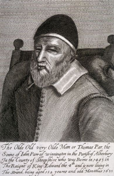 THOMAS PARR Londoner who lived to the age of 152
