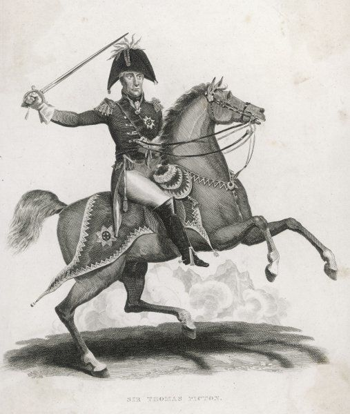 SIR THOMAS PICTON British army officer on his horse