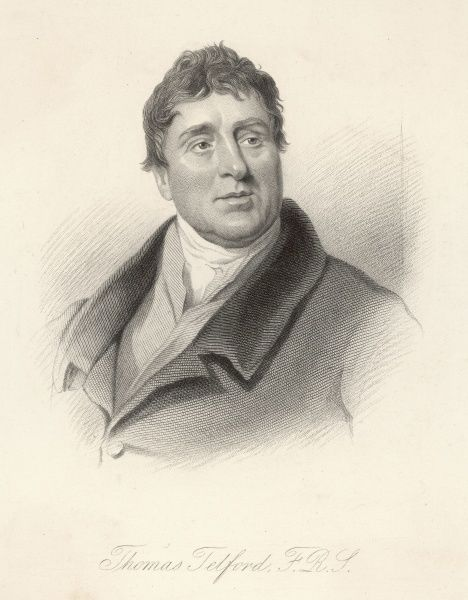 THOMAS TELFORD, engineer, bust portrait