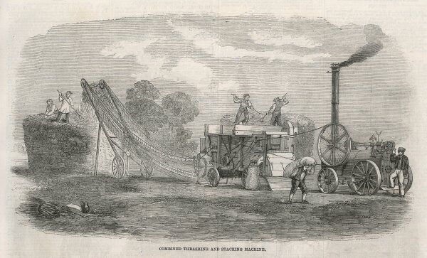 Combined Thrashing and Stacking Machine, by Wilkinson, Wright of Boston, Lincolnshire