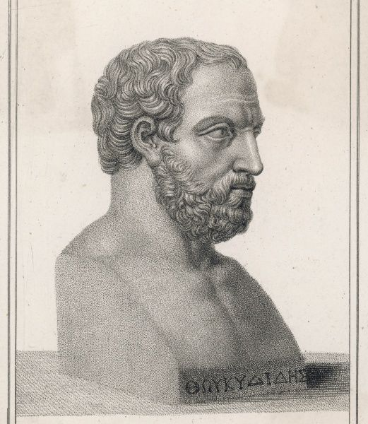 THUCYDIDES Greek historian, wrote his history while exiled for perceived military failure