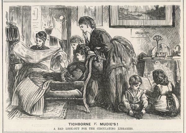 The British public is preoccupied with the Tichborne Trial - the ladies lay aside their library books to see what the newspapers have to say