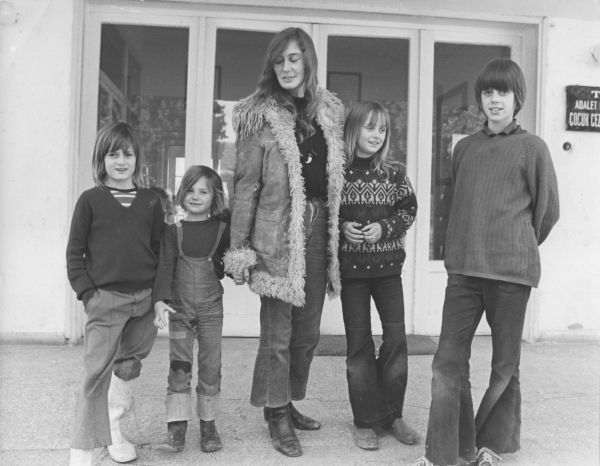 Timothy Davey and his family, Turkey 1971 Date: 1971