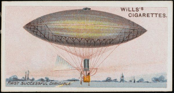 The electric-powered dirigible of Gaston and Albert TISSANDIER flies from Auteuil, near Paris, and qualifies as the world's first successful dirigible airship