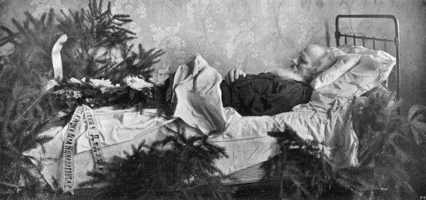 TOLSTOY ON HIS DEATHBED