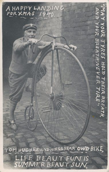 Tom Hughes with the bicycle he purchased in 1887