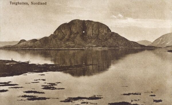 Torghatten (Troll's Hat) is a hill in Norway renowned for its distinctive hole piercing straight through the hillside (not a printing error!)
