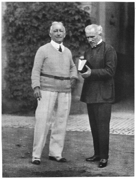 ARTURO TOSCANINI Italian conductor (right), known for his dynamic style - seen here with Siegfried Wagner in 1930