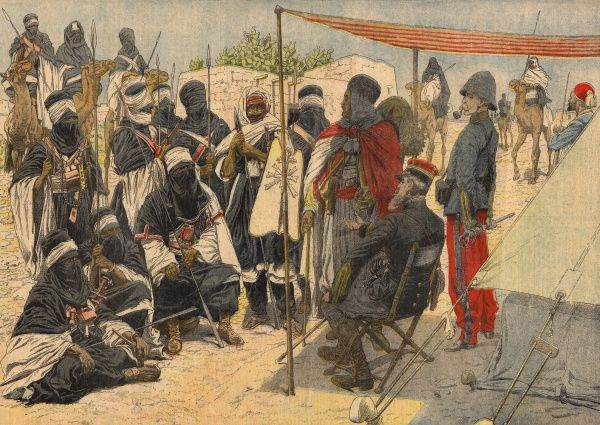 Touareg Hoggars and Taitogs submit to France in the Sahara Date: 1905