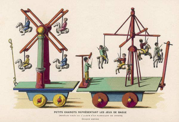 French toys of fairground amusements