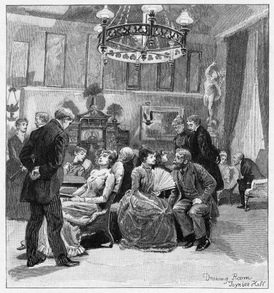 The Drawing-Room of this philanthropic-educational institution in the Commercial Road in London's East End,, scene of many a fierce political discussion