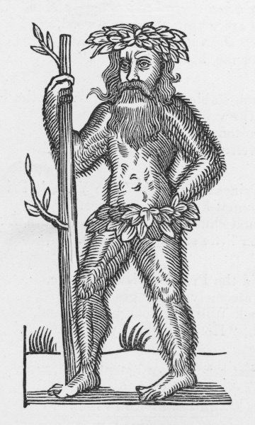 Traditional Green Man of English folklore - this one is used to illustrate a ballad about Robin Hood... was Robin a folklore entity ?