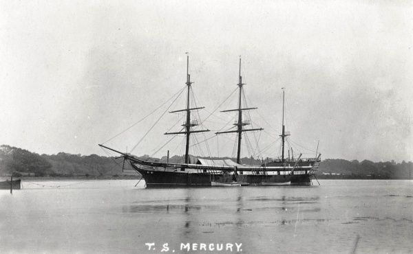The Training Ship Mercury was established in 1885 by the London philanthropist Charles Hoare. The ship, a barque previously named Illova, was originally moored at Binstead on the Isle of Wight, but moved in 1892 to the River Hamble near Southampton