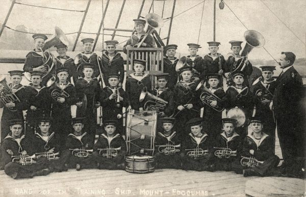 The Mount Edgcumbe Industrial Training Ship for Homeless and Destitute Boys was established at Saltash in Cornwall in 1877. Boys aged 12-15, placed there by magistrates, were trained in seamanship, with many going on to join the naval services