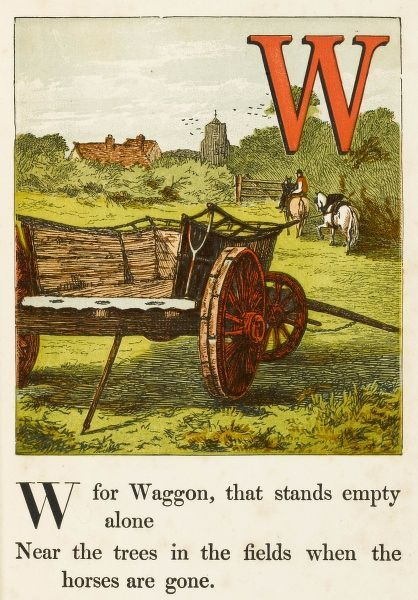 'W' for waggon (sic), that stands empty alone