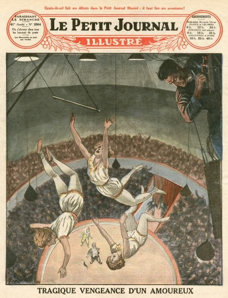 In a travelling circus at Opato, Poland, a German employee, repulsed by one of the Voigis Sisters, connects their trapeze to an electric cable, killing all three