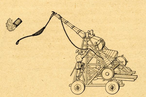 A Trebuchet siege engine from the 16th century
