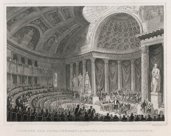 Polignac and other ministers of Charles X are sentenced to life imprisonment by the Chambre des Pairs. Date: 2 December 1830