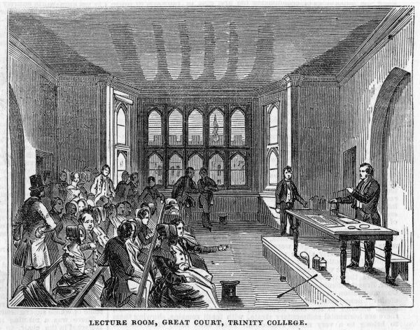 The lecture room in the Great Court at Trinity College