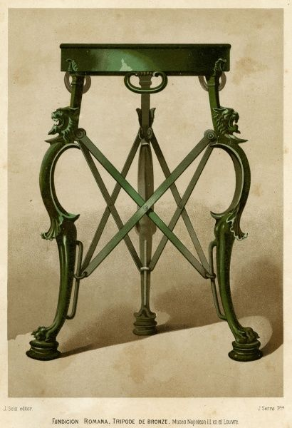 Three-legged support for lamps, braziers &c. Date
