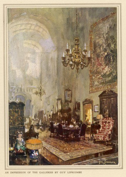 An impression of Trollope's West Halkin Street Galleries, Belgrave Square, London - furnishers to numerous nobility and gentry
