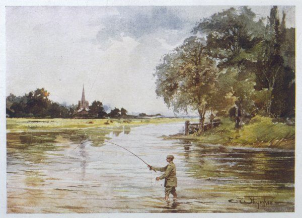 Trout fishing on the Itchen, Hampshire