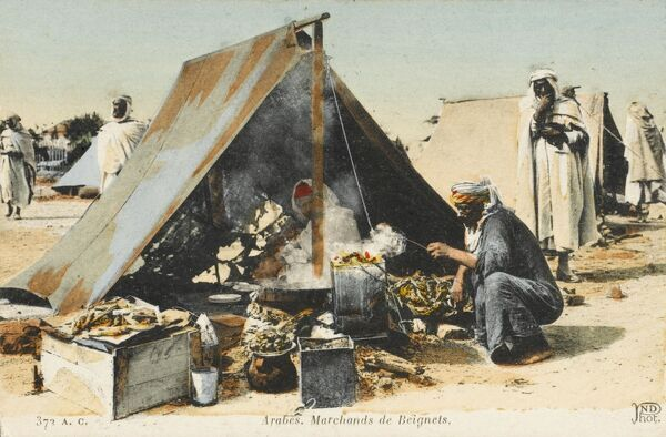 Arab sellers of fritters, Tunisia