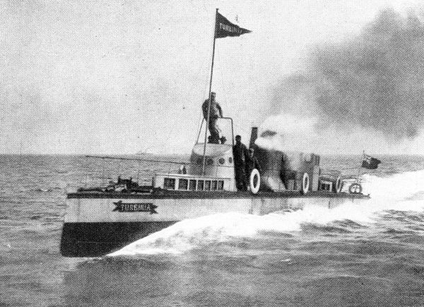 Photograph of the experimental turbine steamer 'Turbinia&#39